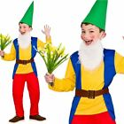 Kids Boys Garden Gnome Dwarf Costume Fairy Tale Dwarves Panto Fancy Dress New
