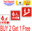 Fire Exit Sign Sticker Emergency Escape Fire Drill Safety Stairs Disable