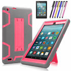 For Amazon Kindle Fire 7 HD 8 7th 2017 Shockproof Rubber Stand Hard Case Cover