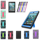 For Amazon Kindle Fire 7 HD 8 8th 2018 Shockproof Rubber Sta