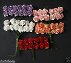 24 PAPER ROSE HEADS  ON WIRES. ALL  CRAFTS, DECORATION. LOTS OF COLORS