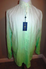 NEW RALPH LAUREN MEN'S LONG SLEEVE SHIRT LINEN LIME OMBRE SIZE XLT NWT $145