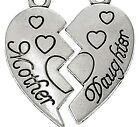 Mother Daughter Double Charm Set with Jump Rings Silver Plate Bracelet Family