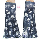 Women's LONG SKIRT Skull Cross Distressed maxi (S/M/L/XL/1XL/2XL/3XL)