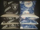 Oakland Raiders LA Dodgers Set of 8 Cornhole Bean Bags FREE SHIPPING $29.99 USD on eBay