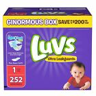 Luvs Ultra Leakguards Baby Diapers Size 1 2 3 4 5 6. Fast Free Shipping