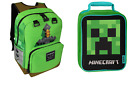 minecraft lunch box - New Minecraft Backpack Kids School Supplies Bag And Creeper Insulated Lunch Box