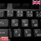Czech Transparent Keyboard Stickers for Laptop Computer Notebook - 6 Colours