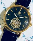 18K Yellow Gold Constantin D. Skeleton IWC Hands REAL DIAMOND Germany Tourbillon