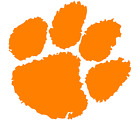 Clemson Tigers Paw Logo Vinyl Decal Window Sticker Clemson T