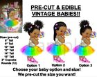 PRE-CUT Rainbow Party Dress Candy Girl Baby EDIBLE Cake Topper Image Lollipop
