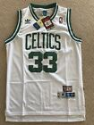NWT Larry Bird 33 Boston Celtics Vintage NBA White Jersey Stitched S XXL