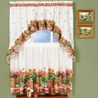 Achim Country Garden Printed Tier Curtain and Swag Set
