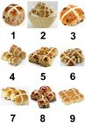Hot Cross Buns Small or Large Sticky White Paper Stickers Labels NEW