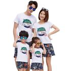 Summer Family Matching Clothes Cotton T Shirts +Pants Family Couple Clothing Set