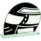 Black/Silver Motorsport Glass in 3 sizes with Free Engraving up to 30 Letters