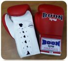BOON LACE UP GLOVES BGL RED 8,10,12,14,16 OZ SPARRING MUAY THAI MUY THAI MMA K1