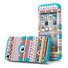 ULAK iPod Touch 5 6 Case 3in1 Hybrid Silicone & Rugged PC Sh