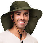 Fishing Hiking Sun Hat UV Sun Protection Outdoor Sports Neck Cap with Wide Brim