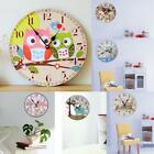Easy Read Large Number Clock Retro Wood Analog Wall Clock Kitchen Home Clock