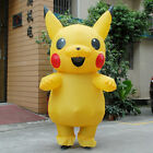 Adult Child  Mascot Pikachu Inflatable Costume Cosplay  Funny Dress Outfit US