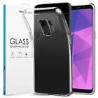 ProtectionSet Clear Silicone Ultra Slim Case and Tempered Glass Screen Protector