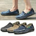 Mens Cowboys Preppy Flats Slip On Loafers Driving Denim Canvas Sneakers Shoes