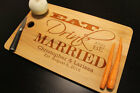 Personalized Eat Drink and Be Married Wedding Date Anniversary Cutting Board