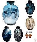 New Game of Thrones Jon Snow Khaleesi Fashion 3D Print Sweatshirt Hoodie S-6XL