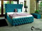 New Kendal Chesterfield Fabric Upholstered Floor Standing Headboard