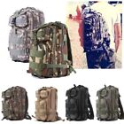 Mens Womens Canvas Backpack Camping Travel Hiking Bag Sports Rucksack Schoolbag