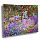 Claude Monet - The Artist's Garden at Giverny 1900 Box Canvas Wall Art Print