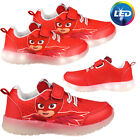 PJ Masks Shoes Flashing LEDs in Sole Licensed PJ OWLETTE Trainers with LEDs