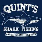Brand New QUINTS SHARK FISHING TSHIRT Mens Womens Kids JAWS MOVIE SM-5XL
