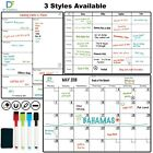 Magnetic Whiteboard Fridge Calendar Planner Dry Erase Monthly or Weekly 42x30 cm