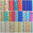 BARGAIN -  FLORAL POLYCOTTON FABRIC NURSERY FLORALS DOGS CATS ANCHOR SHIP OWL