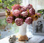 1Bouquet Artificial Fake Peony Silk Flower Bridal Hydrangea Wedding Party Decor