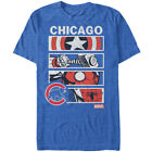 Adult Marvel & MLB T-Shirt - Short Sleeve Crew Neck - Chicago Cubs