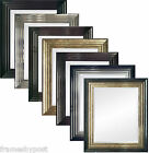 Large Firenza Mirror with Plain 3mm or Bevelled 4mm Mirror Black Gold Silver