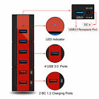 6 Ports USB HUB 3.0 2.0 Expansion Adapter Connector Charging Station 24W 15W 3A