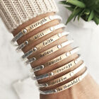Inspiration Words Stacking Bangle bracelet  Faith Blessed Believe Be thankful