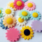 Внешний вид - Cute Smile Sunflower Flatback Resin Button Diy Craft Scrapbook  Embelishment