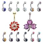 14PCS Unique Belly Rings Lot Navel 361L Surgical Steel Belly Button Ring Set 14G