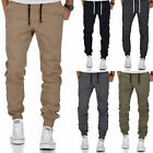 Herren Stretch Jogger Basic Chino Jeans Hose Cargo 7002