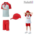 BRAND NEW GIRLS OFFICIAL RAINBOWS SET POLO SHIRT TOP SHORTS CAP HAT S3