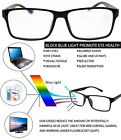 Anti Blue Light and Anti Block Glare Pro Computer Reading Glasses Unisex Readers