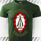 BSA Classic Vintage Motorcycle T-Shirt 100% Cotton Graphic Tee Retro Green