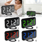 Digital Alarm Clock Large LED Display With 2 USB Charging Port Home Office