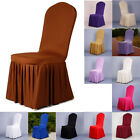 Chair Cover Pleated Dress Polyester Wedding Party Folding Seat Protector Decor