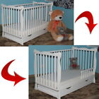 JULIET WHITE BABY COT / JUNIOR BED + OPTIONAL MATTRESS AND BARRIER BEST VALUE